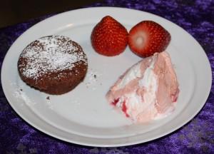 Blødende chokoladekage